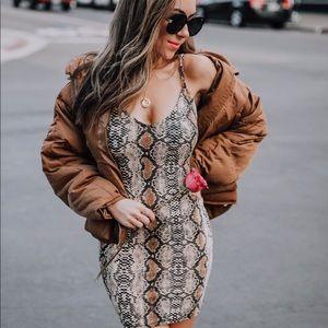 Public Desire Leopard Print Dress Worn Once XS